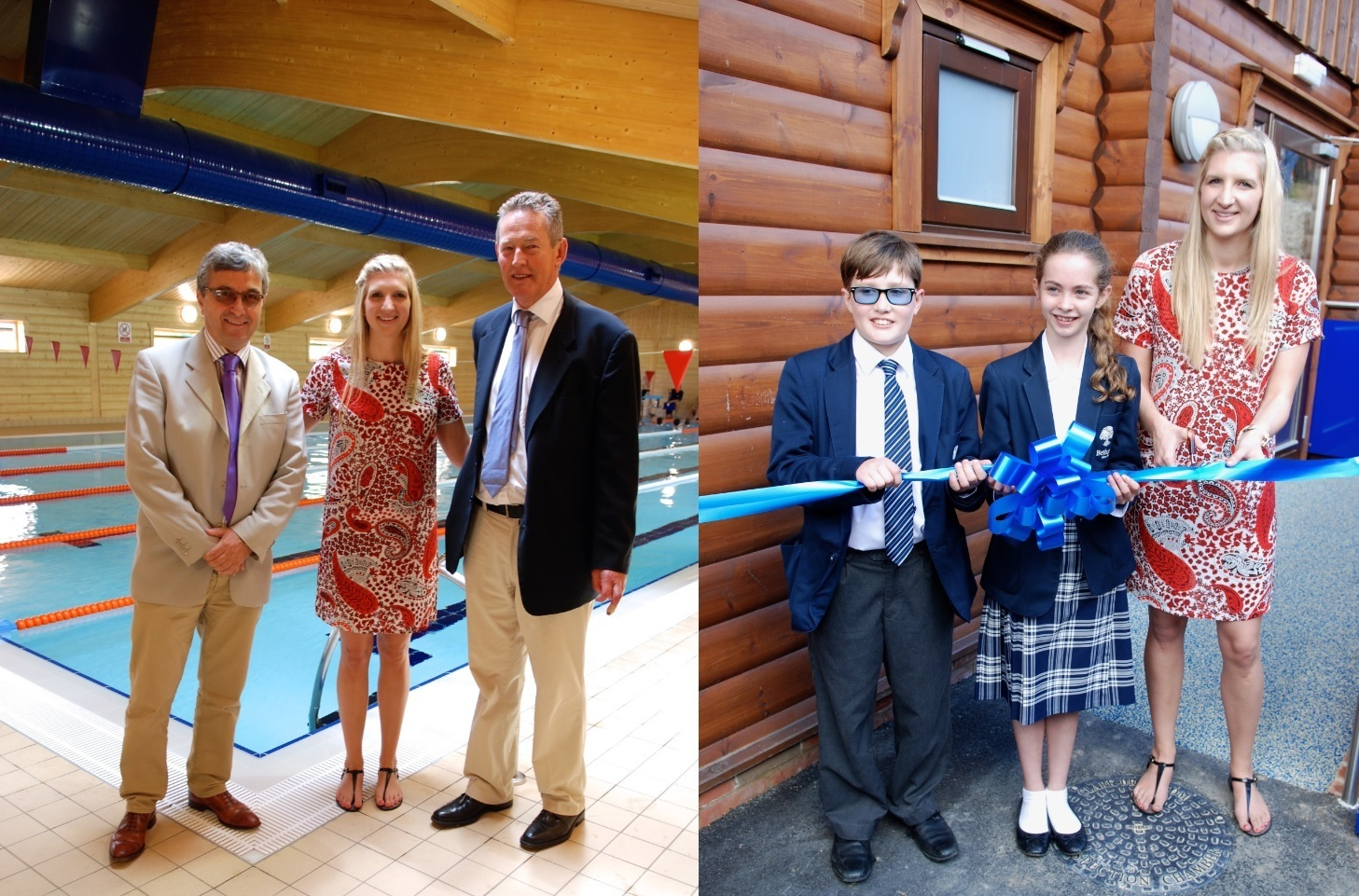 New Swimming Pool At Kent Boarding School Opened By An Olympian