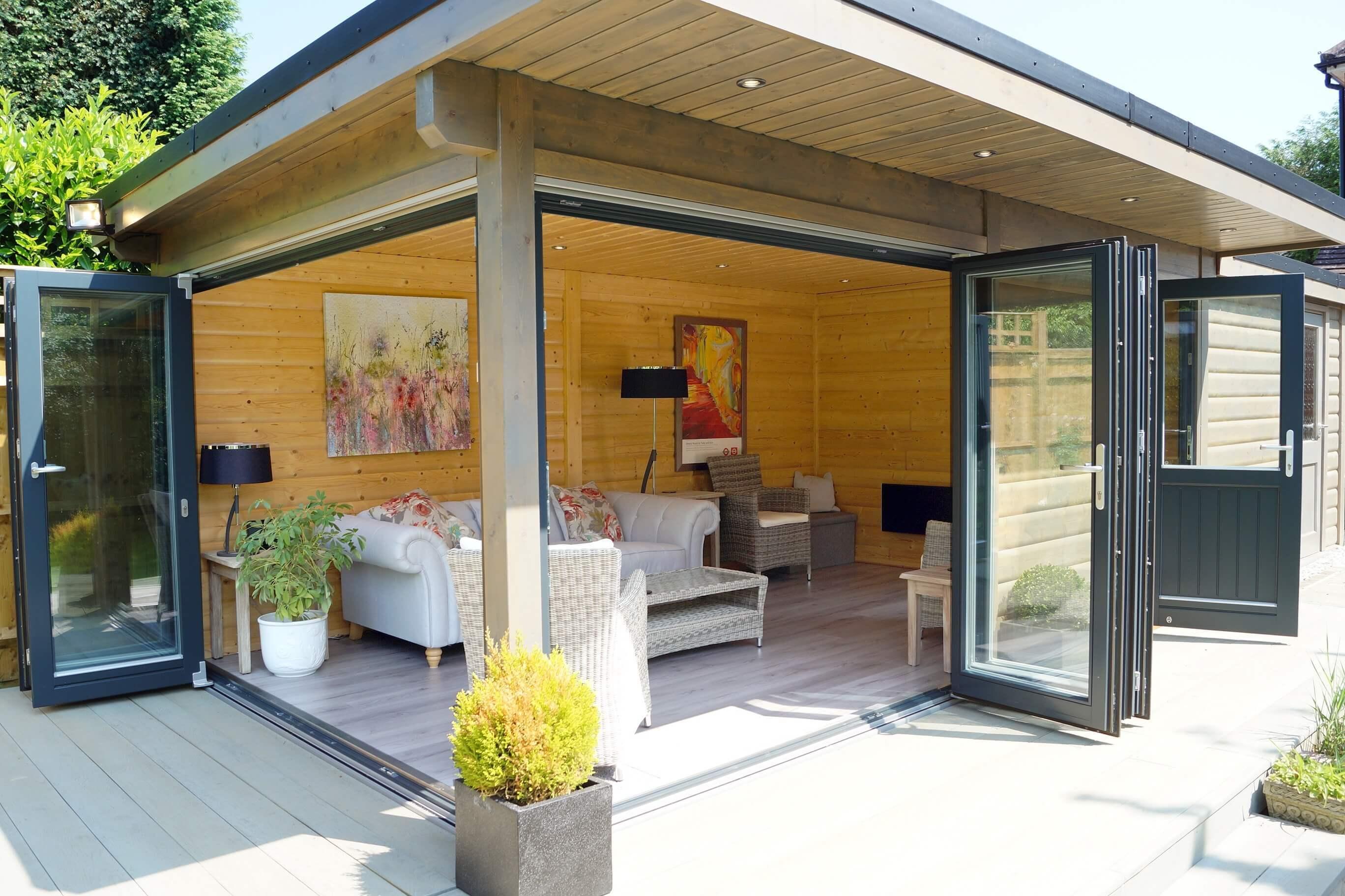 Garden rooms garden log buildings norwegian log for Garden rooms prices uk