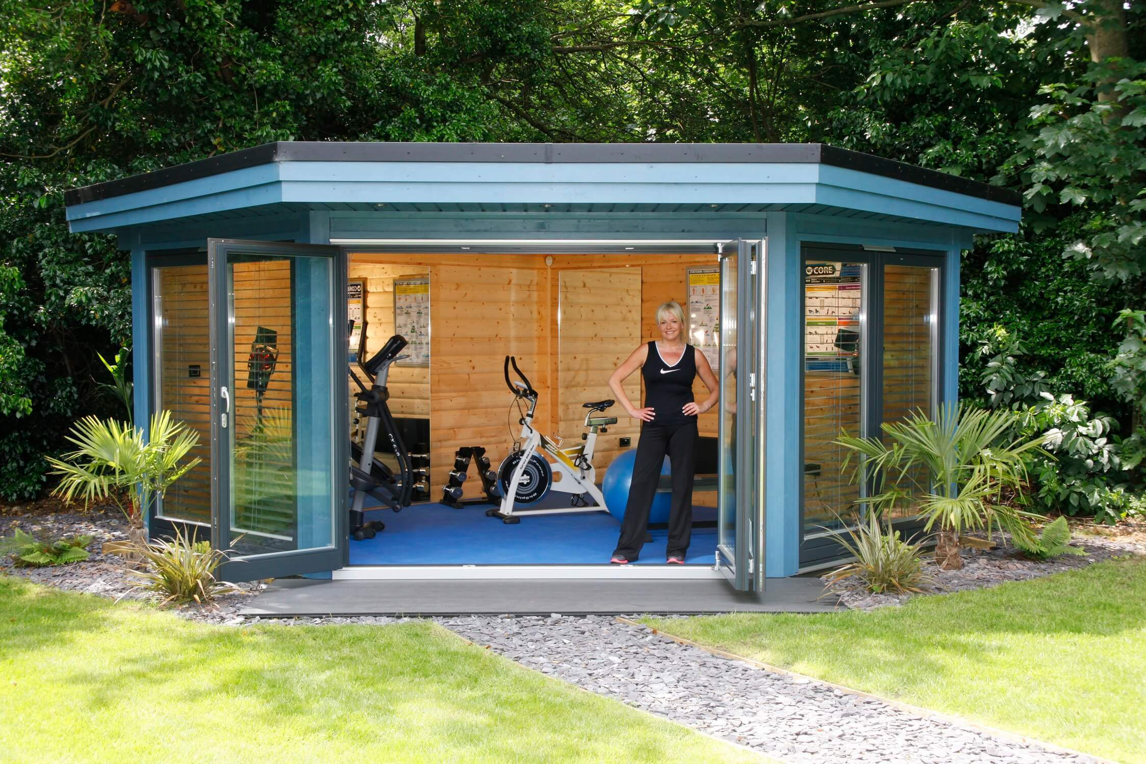 Garden gyms home gym buildings norwegian log for Cost of building a gym