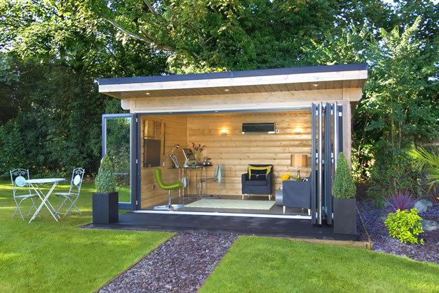 garden rooms garden log buildings norwegian log. Black Bedroom Furniture Sets. Home Design Ideas
