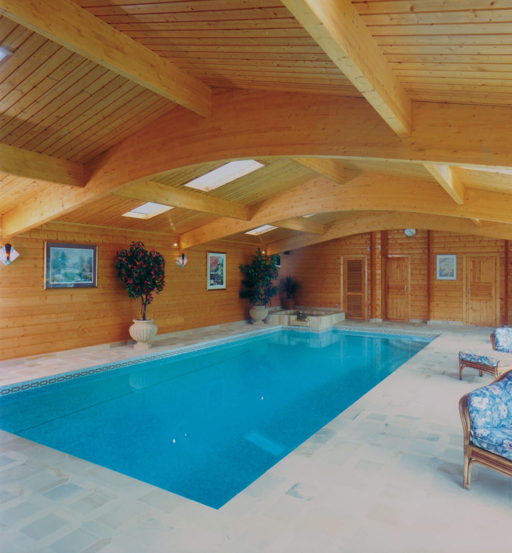 Swimming Pool Buildings Norwegian Log