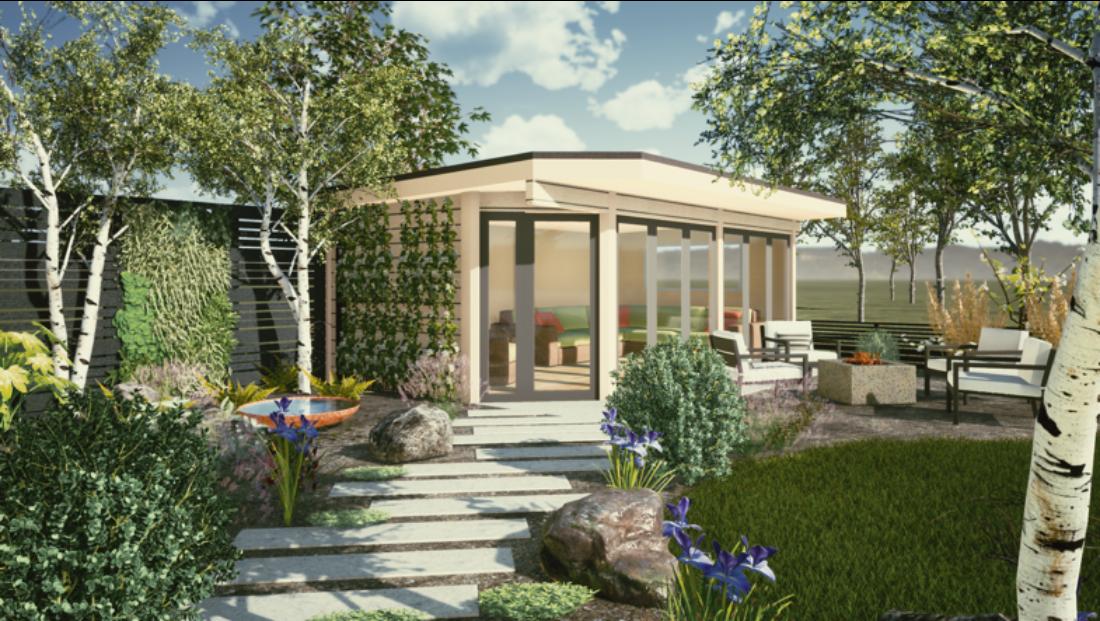 Garden Design Ideas 4 Richard Rogers Designs Norwegian Log