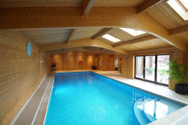 Swimming Pool Buildings and Enclosures | Norwegian Log