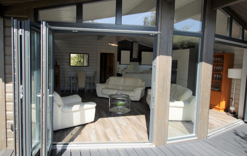 Contemporary Log Cabin Interior 1
