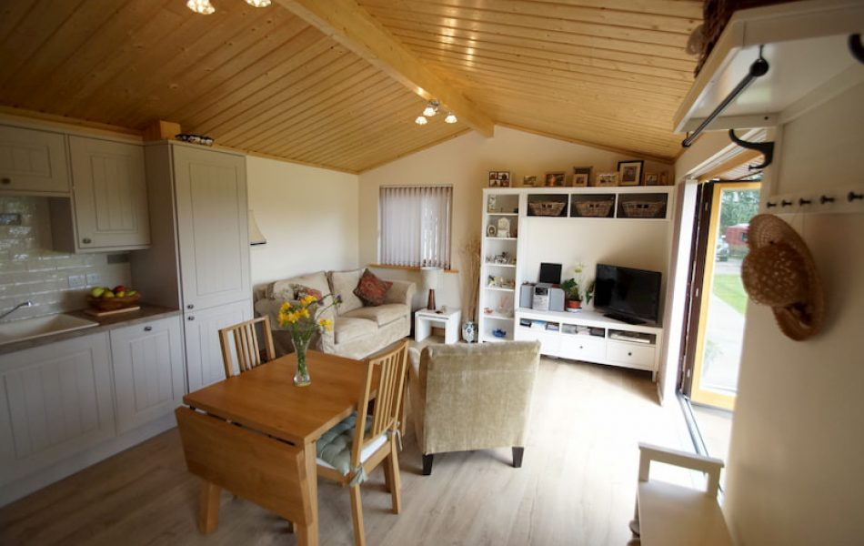 Contemporary Log Cabin Interior 3