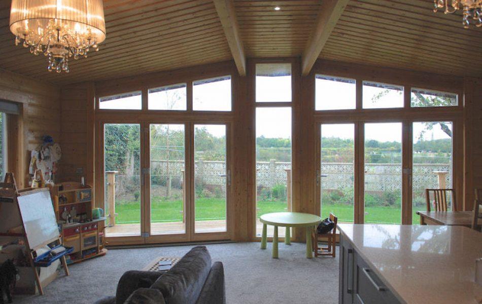 Contemporary Stavanger Log Home Essex 6