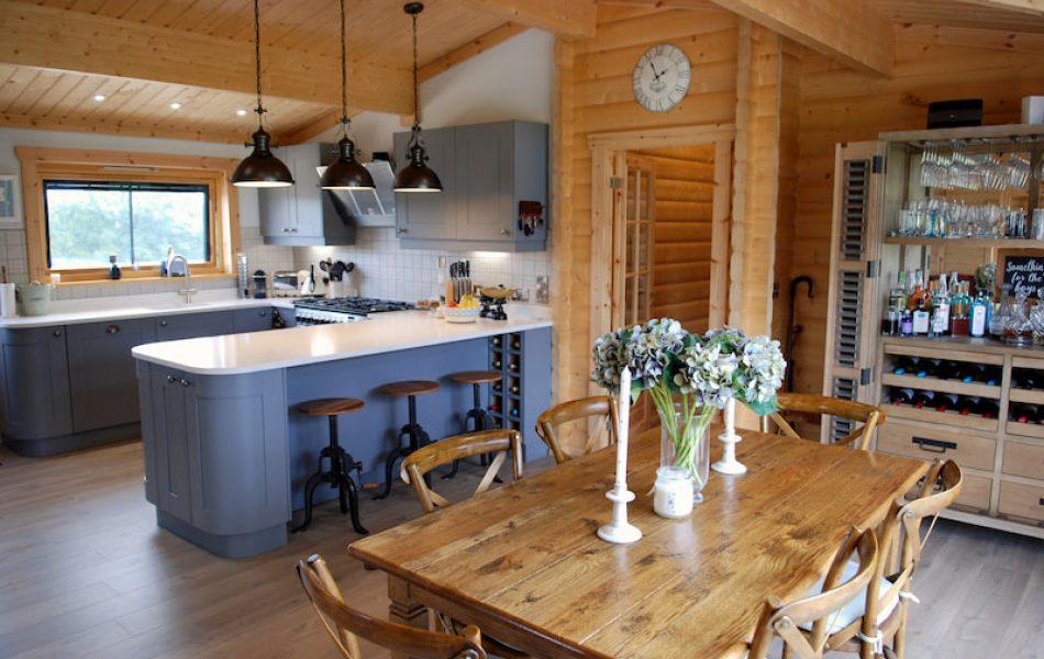 Traditional Log Cabin Interior 1