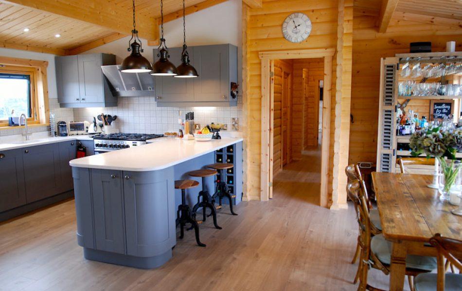 Traditional Log Cabin Interior 2